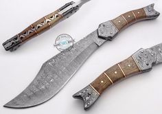 "12.00"" Custom Made Beautiful Damascus steel Bowie Knife (855)"