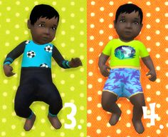 It's all about clutter, Baby Overrides: Set 5- Dark Skin/Boy + Long Hair....