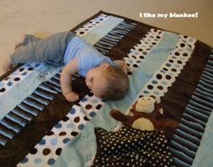 Sweet minky quilt and Pluffie critter Lovee for a sweet baby boy.  Made 3/21/2012