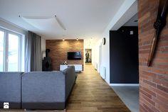 projekt domu w Wiśniowej Górze - Średni salon, styl skandynawski - zdjęcie od Piotr Stolarek PROJEKTOWANIE WNĘTRZ