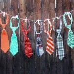 This would be a cute idea for a garland for a boy baby shower!
