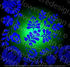 026. Digital flower motif hand embroidery motif