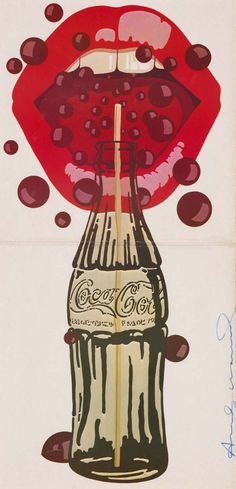 """""""Andy Warhol -Velvet Underground featuring Nico cover With this Coca-Cola painting I really like the lightness on the lips . Nevertheless I like the brown Coca-Cola bubbles floating around the lips and inside the mouth. Andy Warhol Pop Art, Andy Warhol Prints, Jasper Johns, Inspiration Art, Art Inspo, The Velvet Underground, Pin Up Retro, Coca Cola Vintage, Retro Kunst"""