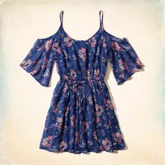 Floral Cold Shoulder Dress, lightweight and supersoft with all-over floral print. Your summer go-to.