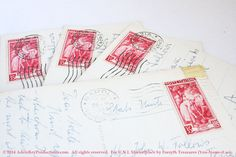 VINTAGE Real Photograph Postcards with 1950 by ForsythTreasures