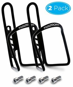 2Pack Aluminum Alloy Bicycle Water Bottle Holder Mountain Bike Bottle Rack Cage