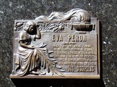 Eva Perón - Second wife of Argentine President Juan Perón (1895–1974) and served as the First Lady of Argentina from 1946 until her death in 1952.