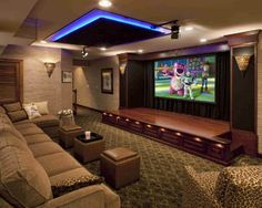 Actually media room can be more than just about movie. It may also refer to, home theater room, television room, game room and other designated bonus room for entertainment. Home Cinema Room, At Home Movie Theater, Home Theater Rooms, Cinema Theatre, Dream Theater, Theatre Stage, Sala Cinema, Home Design, Home Theater Design