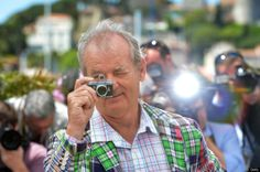 Bill Murray and his camera. Anybody know what it is? I want it! #billmurray #photography #comedy
