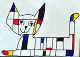 Artsonia Art Exhibit :: 4th Grade Mondrian Animals