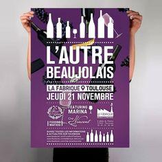 Affiche L'autre Beaujolais (Food & the gang) Vol. 4 poster's by L_st