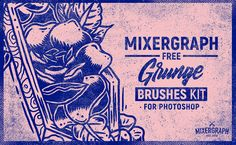 This FREE pack contains 5 Photoshop grunge brushes. Get it for FREE here!  #photoshop #designinspiration #freebie http://mixergraph.com/mixergraph-free-grunge-brushes