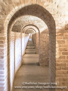 The Tunnels of Fort Barrancas, Pensacola Florida 11x14 Fine Art Travel Photography Print on Etsy, $45.00