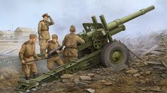 1944 ML-20 obús 152mm cureña M-46 - Vincent Wai - Trumpeter