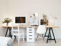 Schreibtisch Bauen Für Zwei Personen · Home Office ...