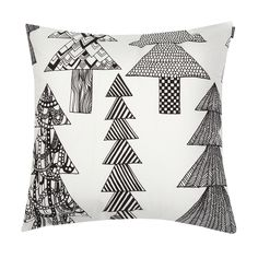 Marimekko throw pillows in a variety of designs. Choose from over 30 Marimekko throw pillows for your seating, bedroom or as a home accent. Black And White Pillows, Black Throw Pillows, Marimekko Bedding, Contemporary Cushions, Brown Color Schemes, Floor Seating, Living Room Color Schemes, Teal And Gold, Home Decor Accessories