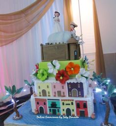 This would look so cute at your Puerto Rico wedding. It is a replica of Old San Juan Puerto Rican Dessert Recipe, Puerto Rican Recipes, Pretty Cakes, Beautiful Cakes, Amazing Cakes, Business Anniversary Ideas, Puerto Rico, 40th Birthday, Birthday Parties