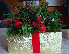 homemade christmas centerpiece ideas - Google Search