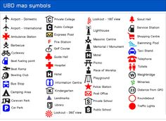 map symbols - Google Search