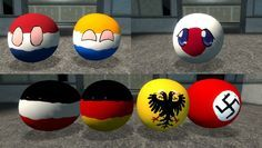 3D Polandball ( Netherlands, Japan, Germany ) #polandball #countryball #flagball
