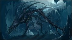 Down there by cyl1981 frozen buried alien speedpaint cave H. P. Lovecraft monster beast creature animal   Create your own roleplaying game material w/ RPG Bard: www.rpgbard.com   Writing inspiration for Dungeons and Dragons DND D&D Pathfinder PFRPG Warhammer 40k Star Wars Shadowrun Call of Cthulhu Lord of the Rings LoTR + d20 fantasy science fiction scifi horror design   Not Trusty Sword art: click artwork for source