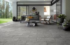 Mirage Evo Name Swiss Grey | Stone Look 20mm Thick Porcelain Pavers | Available at Ceramo
