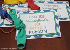 punch ball valentine, could easily be a party favor with word changes