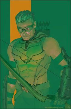 Green Arrow  comics  art  illustration  Michael Stribling