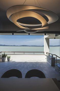Massive Family Villa on the Southern Shore of Lake Balaton, Hungary #artemide #lightborn www.artemide-obchod.cz