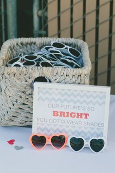 #heart sunnies for all the guests Photography by onelove photography / http://onelove-photo.com, Event Planning, Design and Florals by Sweet Emilia Jane / http://sweetemiliajane.com