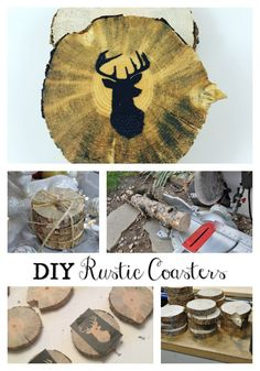 DIY Christmas - Rustic Woodland Coasters