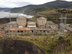 Abandoned Nuclear Plant in Vizcaya, Spain. It never operated. http://en.wikipedia.org/wiki/Lemoniz_Nuclear_Power_Plant