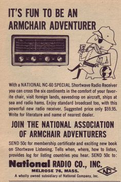 Shortwave radios were tons better than the Internet.