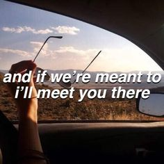 And if we're meant to I'll meet you there.