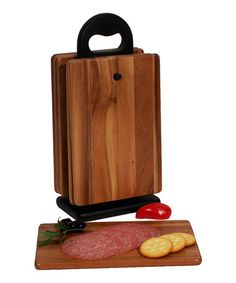 Another great find on #zulily! Wood Serving Boards & Stand - Set of Six #zulilyfinds