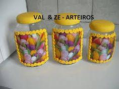 Resultado de imagem para potes de cozinha decorados com biscuit