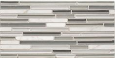 Partially Cloudy- Serenity Glass Mosaic Strips- Mix Glass and Stone - $17.99