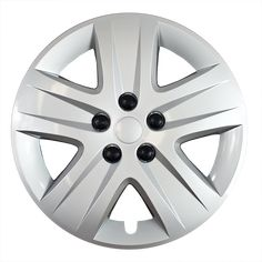 """4 Piece Metal Clips Snap On 16/"""" inch SILVER Hub Cap 5Lug Wheel Cover Caps Covers"""