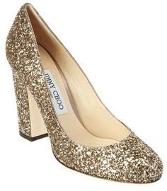f2f9090e08c Jimmy Choo Jimmy Choo Billie 100 Shadow Coarse Glitter Fabric Round-Toe  Chunky Heel Pump