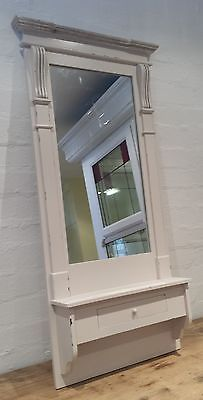 shabby chic shelves | Vintage Chic Wall Hall Mirror Drawer Shabby Cream Country Bedroom ...