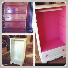 Little Girls Dress Up Dresser. Could so easily do this. On the hunt at garage sales :) (doesn't just have to be a little girls dress up! Little Girl Dress Up, Girls Dress Up, Repurposed Furniture, Kids Furniture, Funky Furniture, Dress Up Closet, Dress Up Wardrobe, Diy Casa, Toy Rooms