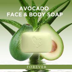 Forever Avocado Face and Body Soap. www.veeforeveruk.myforever.biz/store