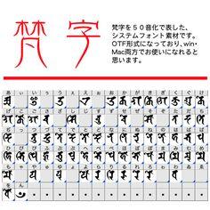 梵字50音フォント - CLIP STUDIO ASSETS