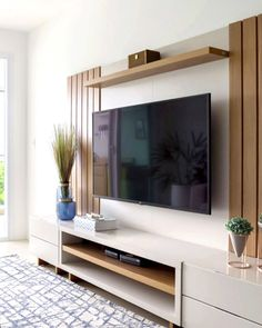 Living Room Tv Unit, Home Living Room, Living Room Decor, Home Room Design, Home Interior Design, Living Room Designs, Living Room Partition Design, Room Partition Designs, Modern Tv Room