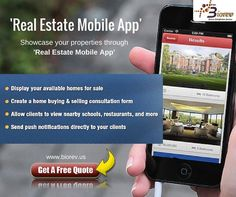 Showcase your properties through 'Real Estate Mobile App' !  Real Estate Mobile App, leading real estate portal brings to you the Real Estate Property. This mobile & ipad application for property search has been designed keeping you in mind and is the ultimate solution to all your property requirements on the go.  Request for a free quote: http://biorev.us/real-estate-apps/  #Realestate #Realestateapp #mobileapplication #mobileapp #Biorevllc