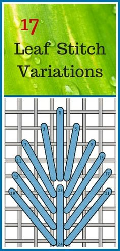 17 Needlepoint Canvas Leaf Stitch Variations