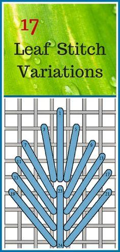 17 Needlepoint Canvas Leaf Stitch Variations