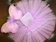 Lilac Fairy Wing Tutu Dress by MyPreciousTutu on Etsy, $48.00