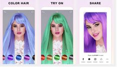 Fabby Hair: A Free App Changes Hair Color Realtime