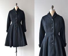 Melton House coat  vintage 1950s princess coat  by DearGolden